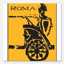"32264376roma.png Square Car Magnet 3"" x 3"""