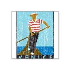"33042400veniceboatman.png Square Sticker 3"" x 3"""