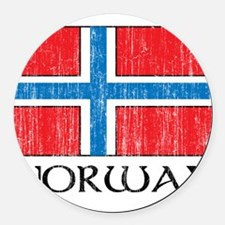 1663296Norway.png Round Car Magnet