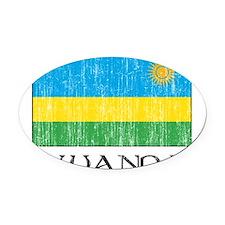 rwanda 00100002377 DARK.png Oval Car Magnet
