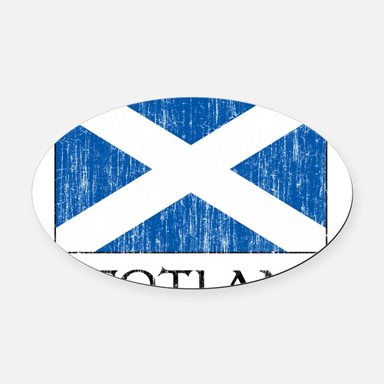 scotland00100002386.png Oval Car Magnet