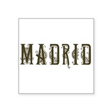 "madrid1.png Square Sticker 3"" x 3"""