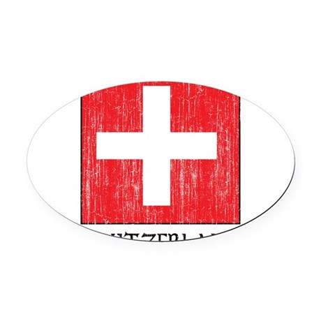 1663376 Switzerland.png Oval Car Magnet