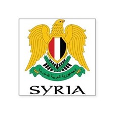 Coat_of_arms_of_Syria22 DARK.png Square Sticker 3""