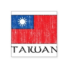 "1663384Taiwan.png Square Sticker 3"" x 3"""