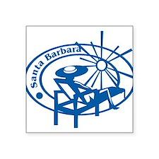 "santa barbara stamp1075h1886.png Square Sticker 3"""