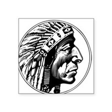 "Indian Head Square Sticker 3"" x 3"""