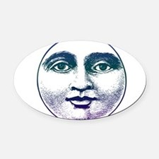 6by6moon.png Oval Car Magnet