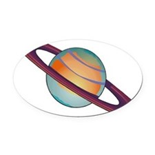 1074h3714saturn.png Oval Car Magnet