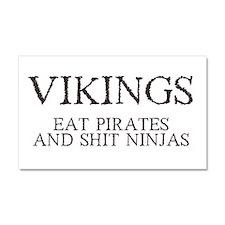 vikings eat pirates.png Car Magnet 20 x 12