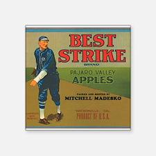 "065best strike apples.png Square Sticker 3"" x 3"""
