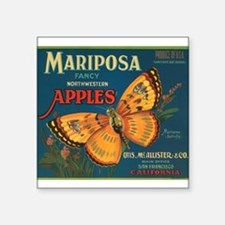 """001mariposa butterfly apples.png Square Sticker 3"""""""
