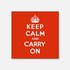 Keep Calm and Carry On Square Car Magnet