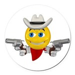 33358861cowboysmiley.png Round Car Magnet