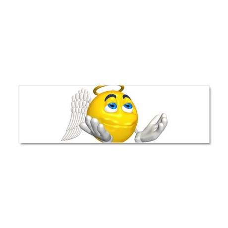 33358667angelsmiley.png Car Magnet 10 x 3