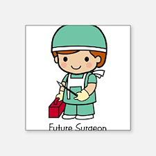 "21429277futuresurgeon.png Square Sticker 3"" x 3"""