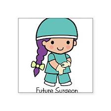 "21429291futuresurgeon.png Square Sticker 3"" x 3"""