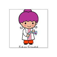 "21333967futurescientist.png Square Sticker 3"" x 3"""