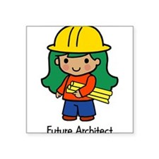 "20036195futurearchitect.png Square Sticker 3"" x 3"""