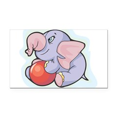 9783811elephanttoy.png Rectangle Car Magnet