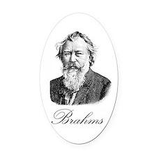 Brahms Oval Car Magnet