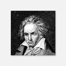 """265Beethoven.png Square Sticker 3"""" x 3"""""""