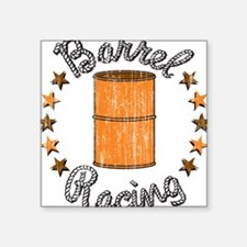 "3-32447421barrelracing.png Square Sticker 3"" x 3"""