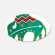 33043425indianbuffalo.png Oval Car Magnet
