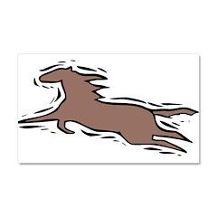 1074h0506stylizedrunninghorse.png Car Magnet 20 x