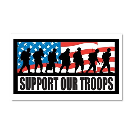 Support our troops - Infantry Car Magnet 20 x 12
