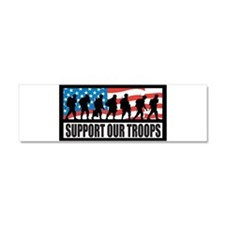 Support our troops - Infantry Car Magnet 10 x 3