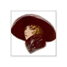 "Glamour Girl - Natalie Square Sticker 3"" x 3&"