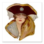 Glamour Girl - Beatrice Square Car Magnet 3