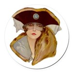 Glamour Girl - Beatrice Round Car Magnet