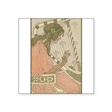 "harpist.png Square Sticker 3"" x 3"""