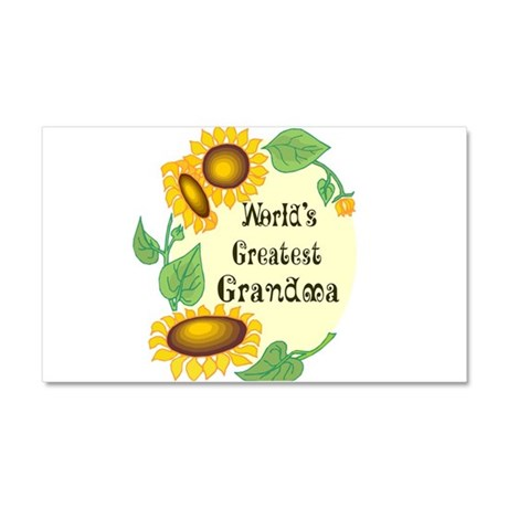 1058h9035worlds greatest Grandma.png Car Magnet 20