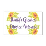 Worlds greatest divorce attorney.png Car Magnet 20