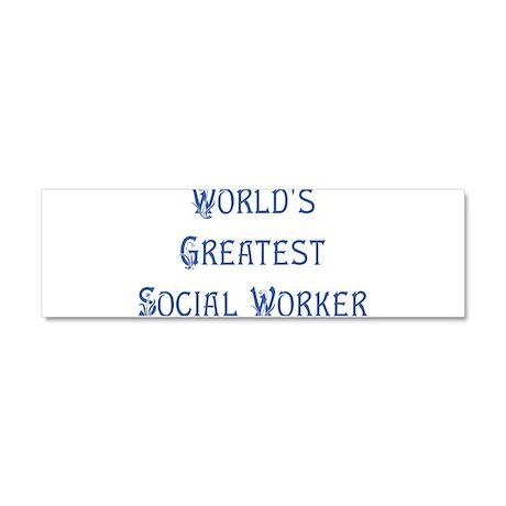 worlds greatest social worker dark.png Car Magnet