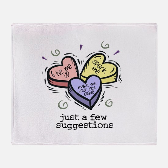 A Few Suggestions Throw Blanket