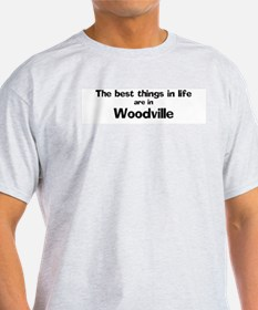 Woodville: Best Things Ash Grey T-Shirt
