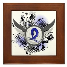 Wings and Ribbon Huntingtons Framed Tile