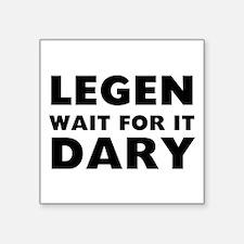 "Legendary Square Sticker 3"" x 3"""