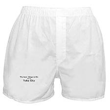 Yuba City: Best Things Boxer Shorts