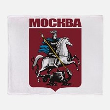 Moscow COA.png Throw Blanket