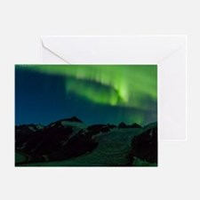 Northern Lights over the ice field Greeting Card