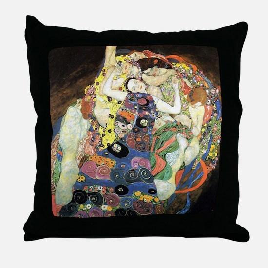 Gustav Klimt Virgin Throw Pillow