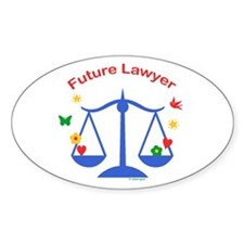 Future Lawyer Oval Decal