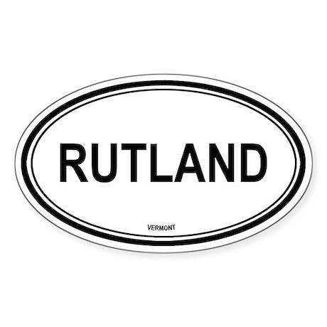 Rutland (Vermont) Oval Sticker