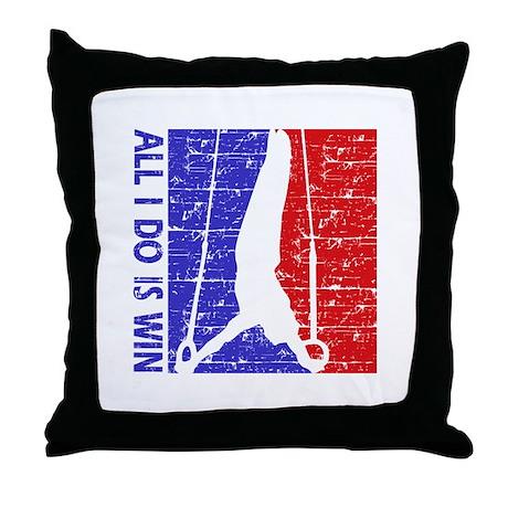 All I do is win Gymnastics designs Throw Pillow