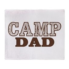 Camp Dad Throw Blanket